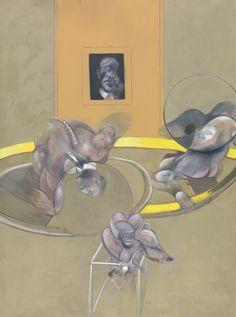 Francis Bacon (1909-1992, Ireland) | Three Figures and Portrait, 1975 | London, Tate