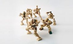 EcoNotas.com: Robots con Madera Reciclada, Juguetes Ecoresponsables