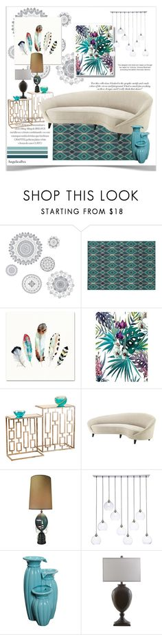 """""""relaxing atmosphere"""" by angelicallxx ❤ liked on Polyvore featuring interior, interiors, interior design, home, home decor, interior decorating, WallPops, Stylehaven, Rica and La Perla"""