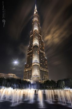 Lighting at Night in Burj Khalifa Burj Khalifa, known as Burj Dubai prior is the tallest man-made structure in the world,at m ft). Dubai is the most populous city in the United Arab Emirates Futuristic Architecture, Beautiful Architecture, Landscape Architecture, Places Around The World, Around The Worlds, Dubai City, Dubai Uae, Dubai Tower, Dubai Travel
