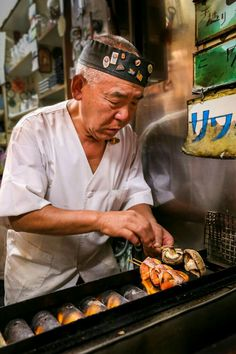 Yakitori master, Tokyo, Japan by Simon Le Moal on Go To Japan, Visit Japan, Japan Art, Japan Japan, Japanese Street Food, Japanese Food, Yakitori, All About Japan, Turning Japanese