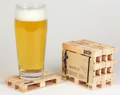 Design Studio Labyrinth Barcelona Palette-It - 4er Set Untersetzer Bier