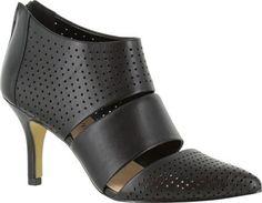 Bella Vita Women's Danica Pump Black Leather Size 8.5 N