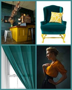 teal and lemon...always a great combo!
