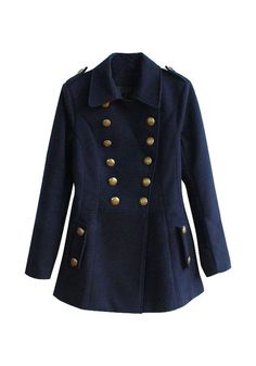 Vintage Double-Breasted Coat - Features Basic Oversized Collar