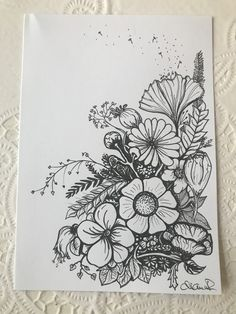 Tattoo drawings, line drawing tattoos, easy drawings, pencil drawings, back Flower Sketches, Art Drawings Sketches Simple, Pencil Art Drawings, Easy Drawings, Line Drawing Tattoos, Tattoo Drawings, Floral Drawing, Flower Doodles, Pen Art