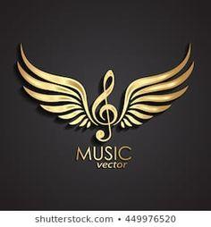 gold 3d winged violin clef / music symbol /vector illustration Eagle Wallpaper, Black Background Wallpaper, Black Background Images, Shiva Tattoo Design, Bike Illustration, Bild Tattoos, Music Symbols, Wings Design, Music Logo