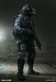 Scribble Pad Studios - Concept Art by Scribble Pad Studios on ArtStation. Military Armor, Military Gear, Sniper Ghost Warrior 3, Us Ranger, Tactical Armor, Futuristic Armour, Futuristic Helmet, Military Special Forces, Sci Fi Armor