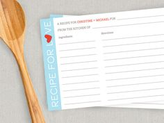 PRINTABLE Personalized Couples Recipe Cards by twopoochpaperie, $3.00