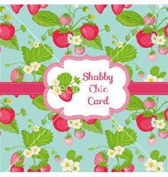 Strawberry shabby chic theme vector by woodhouse84 on VectorStock®