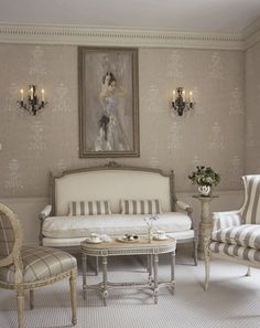 White wall stencils. Love the colors and muted look, maybe not the design.