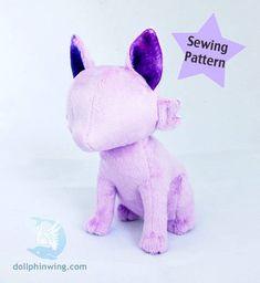 Sitting Feline Plushie Plush Sewing Pattern at Makerist