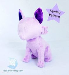 Sitting Feline Plushie Plush Sewing Pattern at Makerist