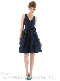 V-neck bridesmaid dress. This style is flattering on so many!