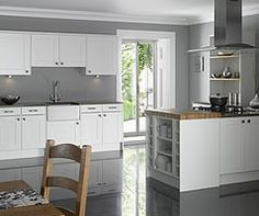 John Lewis County Collection kitchens Camborne - spring white