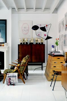 my scandinavian home: A clever, vintage packed home in Madrid