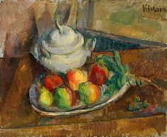 KIKOINE, MICHEL (1892–1968) Still Life with Fruits and a Pot