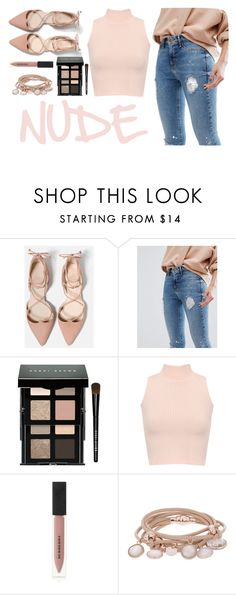 """""""NUDE"""" by ac-4am on Polyvore featuring River Island, Bobbi Brown Cosmetics, WearAll, Burberry and Marjana von Berlepsch"""