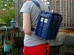 Tardis Backpack with Magnetic Snaps Doctor Who on Etsy, $185.37