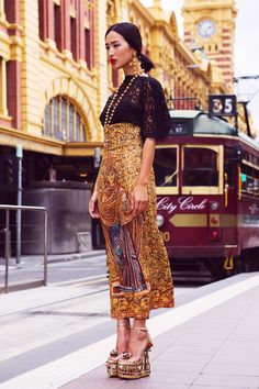 """renebigler: Gary Pepper. Dolce&Gabbana (fall/winter collection 2013). Photo shoot for Dolce & Gabanna's Collins Street store in Melbourne Australia which opened its doors September 10, 2013. """"This is their very first mono-brand flagship store in Australia so we wanted to create a special shoot that reflected the Italian spirit of Dolce & Gabbana mixed with the heritage of historical Melbourne. We traveled to a handful of iconic Melbourne locations like Flinder's St Station, Princes St…"""