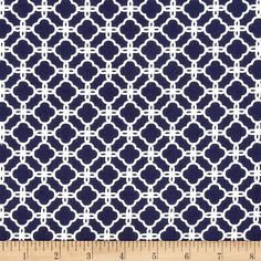 Pimatex+Basics+Quatrafoil+Navy from @fabricdotcom  Designed+by+Studio+RK+for+Robert+Kaufman,+this+cotton+print+is+perfect+for+quilting,+apparel+and+home+decor+accents.++Colors+include+navy+blue+and+white.+