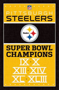 NFL Pittsburgh Steelers Super Bowl Champions Poster