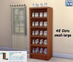 Sims 4 custom content bookcase with slots
