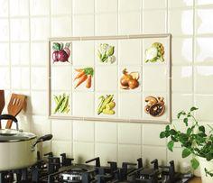"Kitchen Tiles Fruit Design coupe de fruits display 10x10 (4"") | kitchen redesign | pinterest"