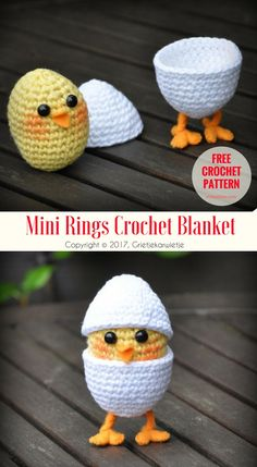 Chick in Egg on Legs [Free Pattern] Another amazing crochet amigurumi project, ready to do. Easy and funny little eggs will be needed soon. #easter  is coming, save it to your Pinterest list or print it. #crochet #freepattern