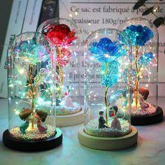 Led Fairy Lights, Led String Lights, Twinkle Lights, Galaxy Flowers, Forever Rose, Enchanted Rose, Rose Gift, Colorful Roses, Flower Lights