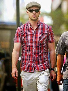 Moda Casual com boina- Roupa masculina com boina