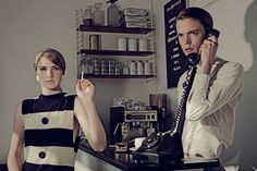 Speakeasy  A sense of the 60's and a feel of mystery with beautiful style ... this set of images was taken by Swedish photographer Kalle Gustafsson
