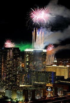 Las Vegas, Nevada on New Year's Eve