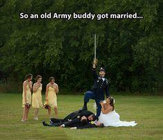 So an old Army buddy...