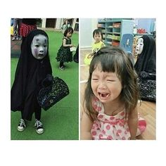 'Spirited Away' costume too spooky for other kindergartners - SmelliFish - Daily Funny Pics, Funny Jokes, Viral Videos Daily Funny, The Funny, Spirited Away Costume, Funny Kids, Cute Kids, Spirited Away Characters, Studio Ghibli Characters, Funny Jokes, Hilarious