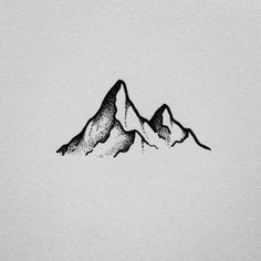 simple drawing doodle mountain stippling easy drawings doodles camping tattoo pen keep instagram illustration
