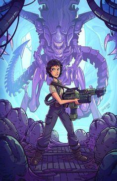 Ripley Vs the Xenomorph Queen