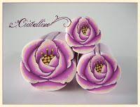 FREE Polymer Clay Tutorials : Pink Gardenia Flower Cane - Cristalline.blogspot.com