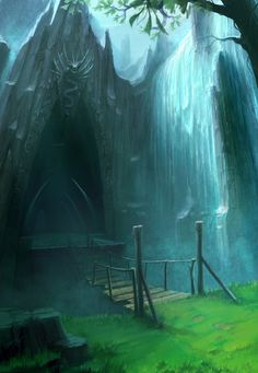 Water Dungeon Entrance Concept by *ANTIFAN-REAL