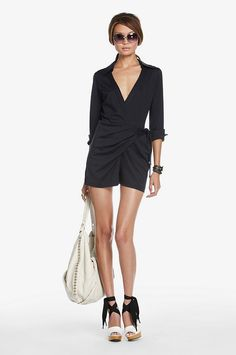 DVF navy romper. I need an awesome planned day to rock this outfit :)
