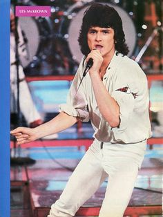 LES McKEOWN PINUP CLIPPING 70's Concert Bay City Rollers