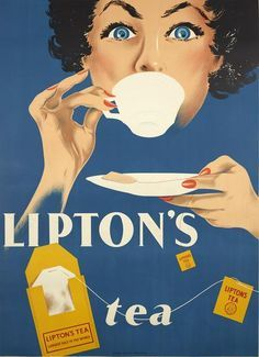 Vintage Lipton's Tea poster