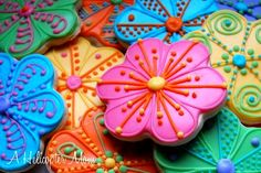 All of this gorgeous weather inspires me to open the windows and bake.  Here are some of my Spring Flower hand decorated cookies:    Hand Decorated Cookies No Fail Sugar Cookies Author: Jackie (http://cakecentral.com/user/Jackie) Recipe type: Dessert Prep time: 30 minsCook time: 10 minsTotal time: 40 mins Serves: 50 This recipe is GREAT when using...Read More »