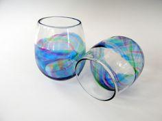 Stemless Wine Glass by @rebeccazhukov #foundryshow #glassware #stemlesswineglasses