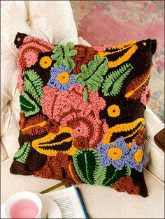 Crochet pillow.