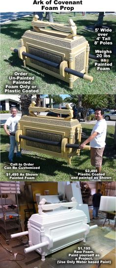 Ark of the Covenant Foam Display Prop. Perfect for events, Church and Temple Displays, Even Retail Displays !