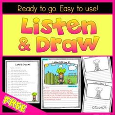 FREE LISTENING activity - students practice focusing and active listening to verbal directions.