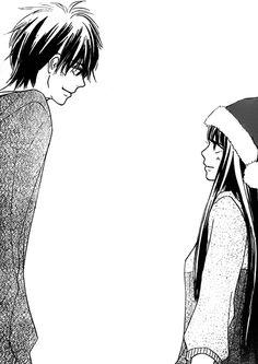 Mostly shoujo mangacap but also shounen and more. Before asking me anything, read the faqs thanks! Kimi Ni Todoke, Manga Love, Manga Girl, Anime Art Girl, Manga Anime, Manga Pictures, Art Pictures, Usui, Couple Illustration
