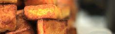 Polenta grelhada com casquinha crocante | cozinha pequena