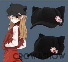 Anime Fleece Cap + badges black one size cotton cosplay hat  - crow4show